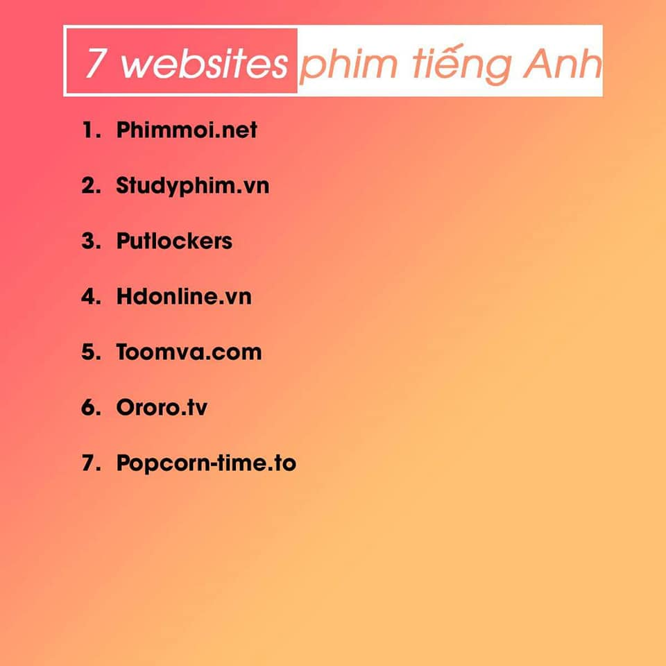 website xem phim tiếng anh