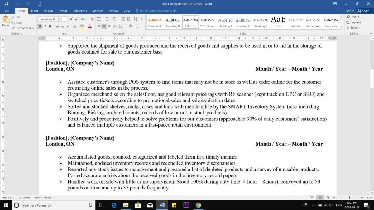 cách viết resume ở nước ngoài