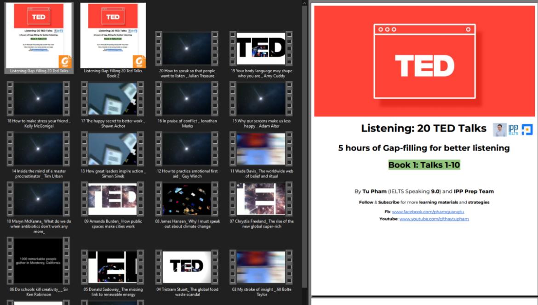 [Give Away] BỘ TÀI LIỆU LUYỆN TED TALKS KINH ĐIỂN, VỪA LUYỆN NGHE, VỪA LUYỆN TỪ VỰNG
