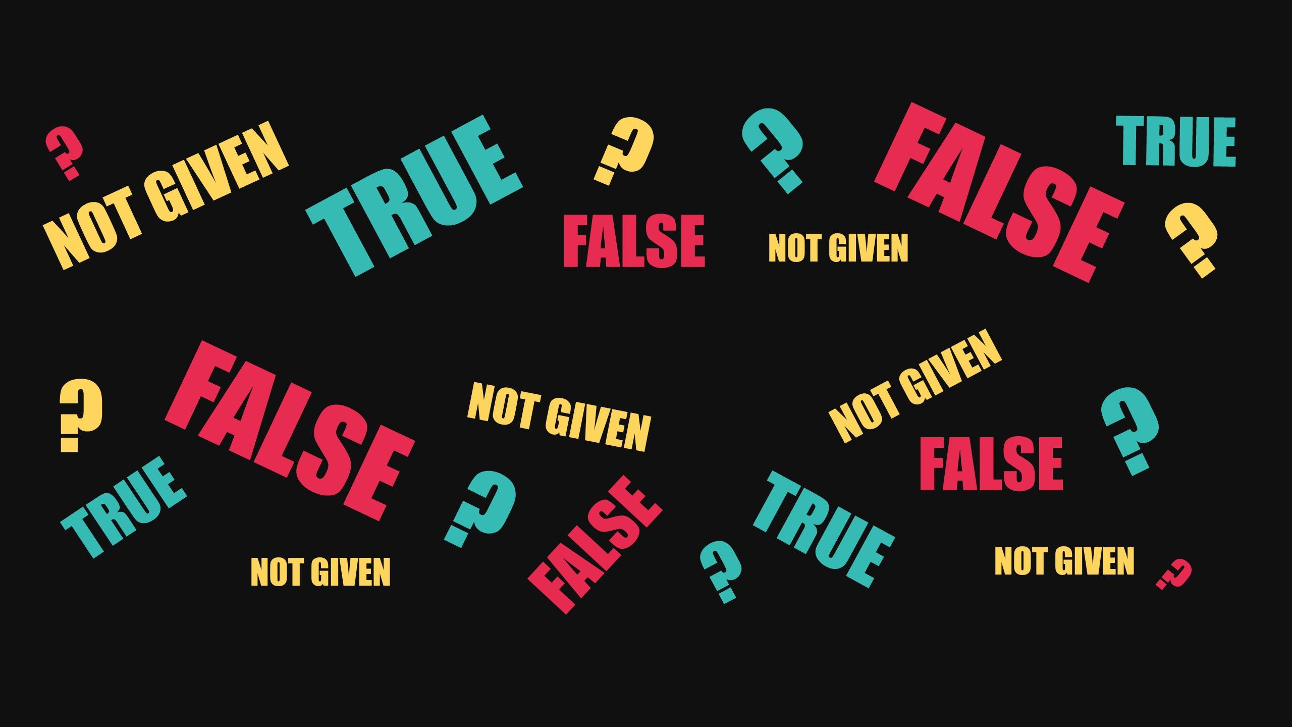 cách làm true false not given