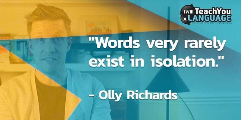 Study phrases not words