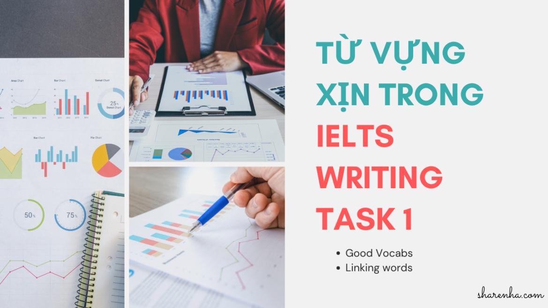 Một số từ vựng lợi hại cho IELTS Writing Task 1