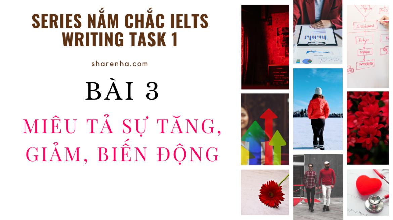 [Series Nắm chắc Writing Task 1] – Bài 3: Mô tả xu hướng Tăng, giảm, biến động